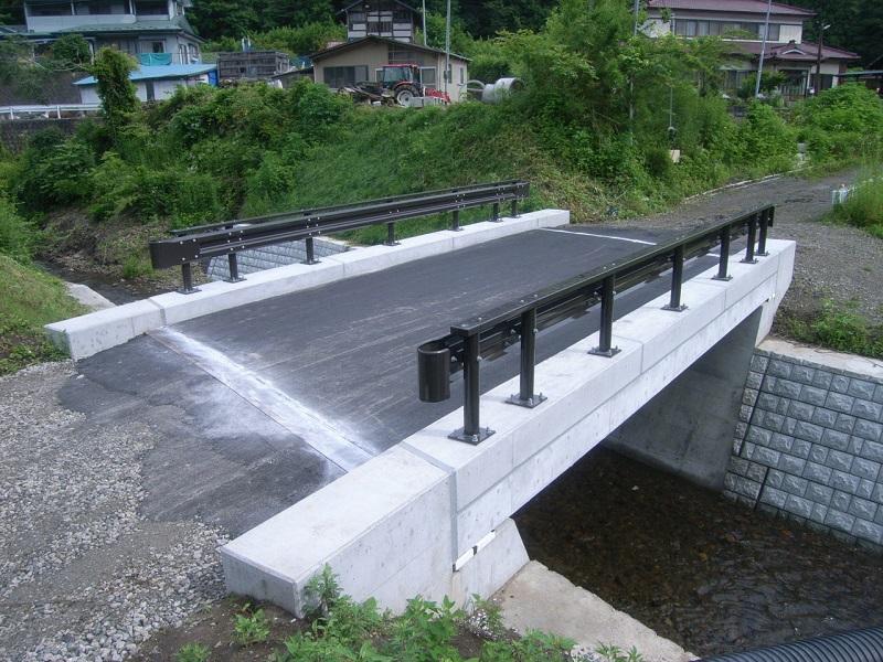 宮野獅々内線1号橋完成