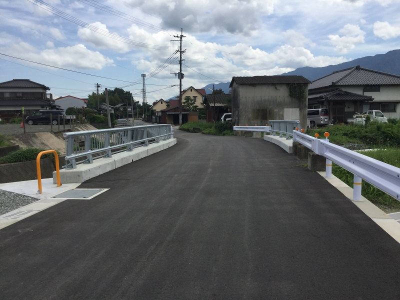 西川橋完成