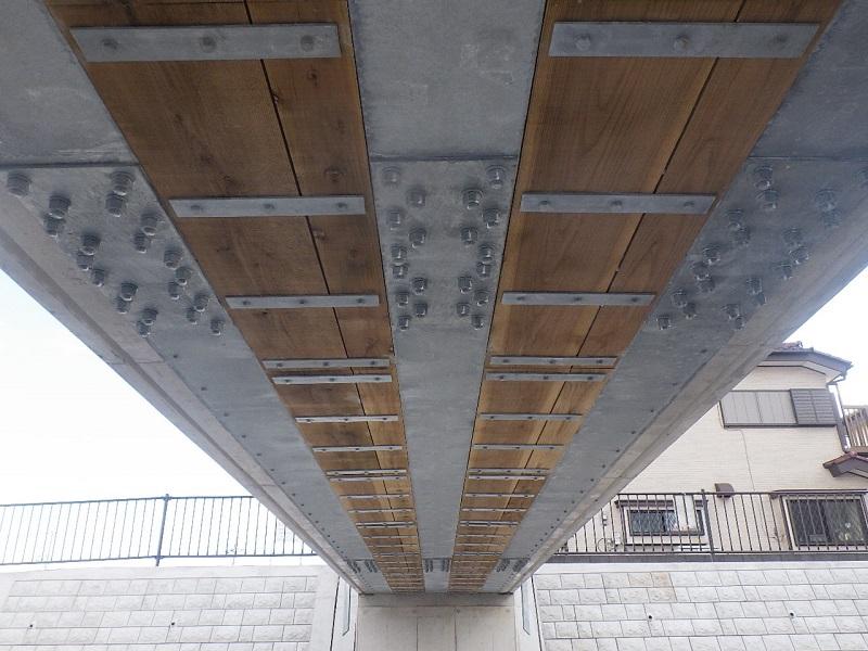 不老川⑦歩道橋桁下面