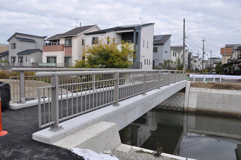 千々川小橋完成