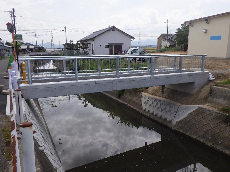 富合歩道橋完成
